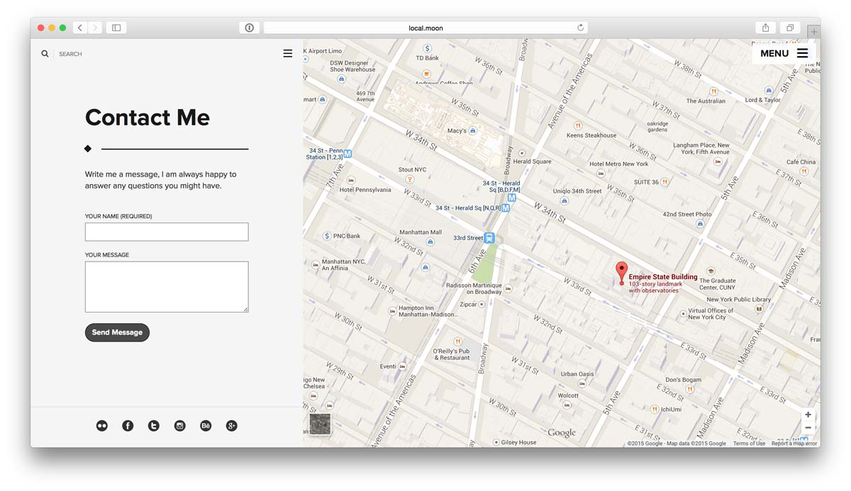 Moon Premium Wordpress Theme User Manual - How to add google map in contact us page